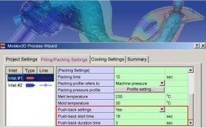 如何以Moldex3D模拟流体辅助射出成型的回冲制程