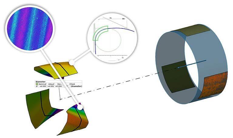 µCMM微米级三坐标测量仪三维测量钻头结果01