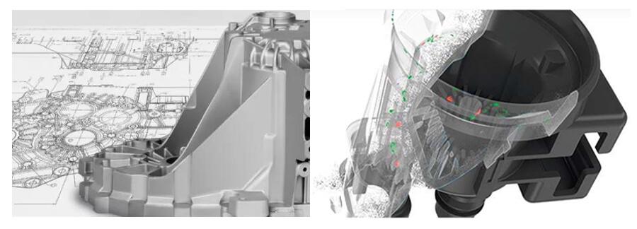 GOM 三维扫描仪,铸件产品三维检测